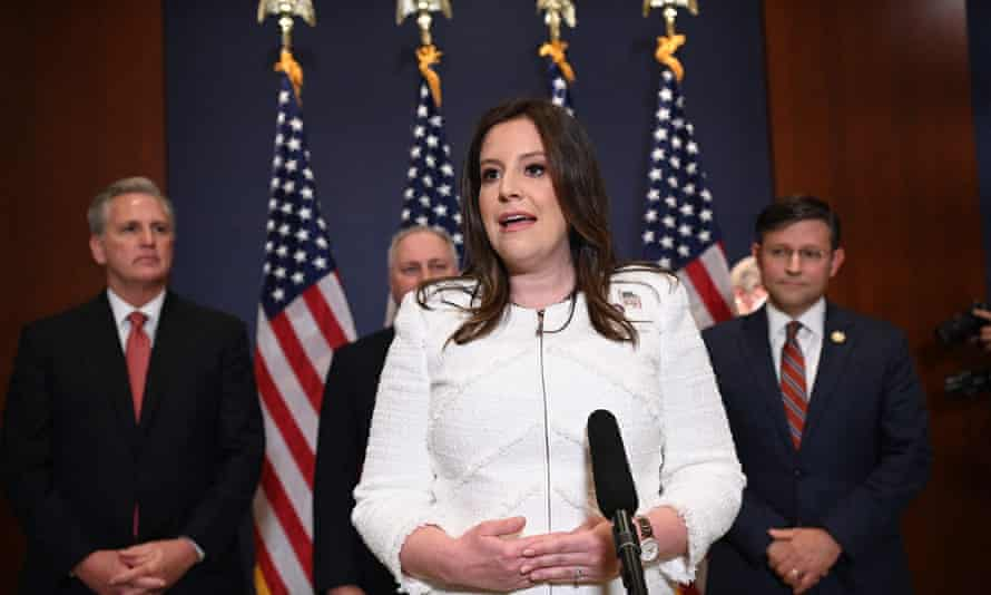 Elise Stefanik said she was 'truly honored and humbled' to be elected as Republican House conference chair.