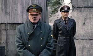 Ganz, left, as Hitler in Downfall, with Heino Ferch as Albert Speer.