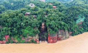 The Leshan Giant Buddha statue