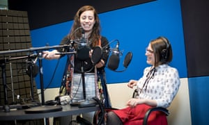 Danielle Stephens and Jordan Erica Webber recording Chips with Everything