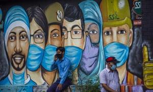A mural in New Delhi, India.