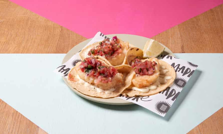 Madre's baja cod tacos.