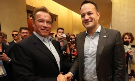 Leo Varadkar and Arnold Schwarzenegger