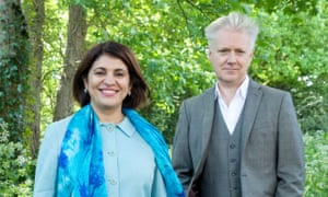 Reenee Singh and her husband, Stephen Fitzpatrick, at their home in Hampstead, London.