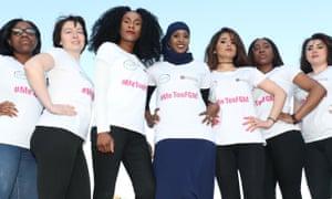 Campaign against female genital mutilation(Left to right) Soky Malaka, Taya Simakova, Vanessa Manunga, Ifrah Ahmed, Zhiyan Karimi, Muwa Malaka and Klaudia Okros at the launch of #MeTooFGM, a worldwide social media campaign in Dublin.