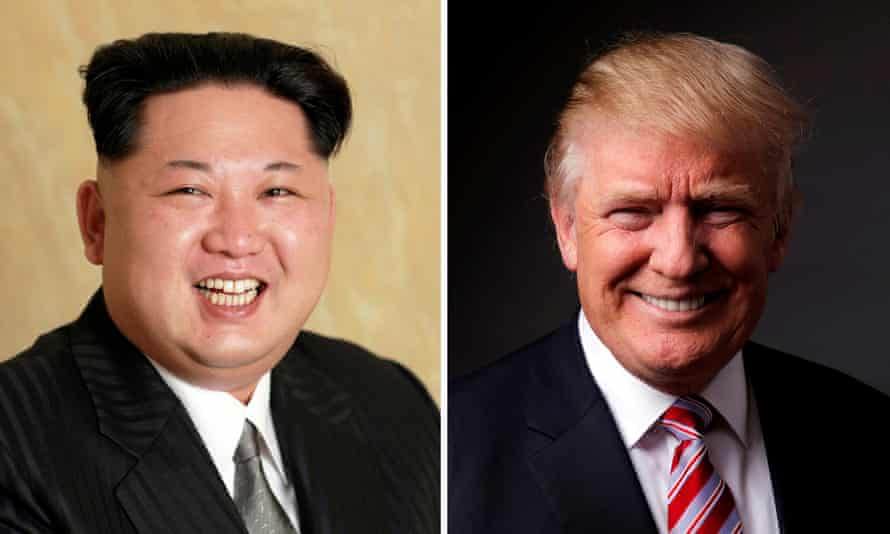 Kim Jong-un and Donald Trump.