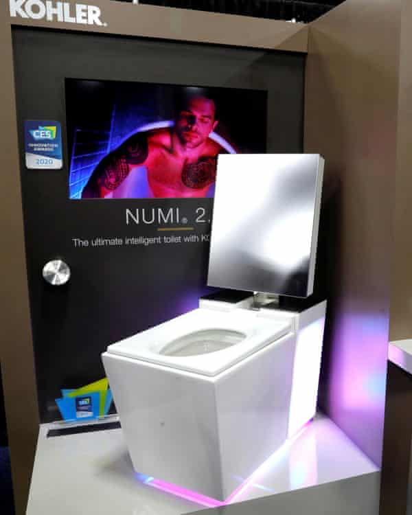 The Numi intelligent toilet, unveiled at CES 2020 by the US brand Kohler