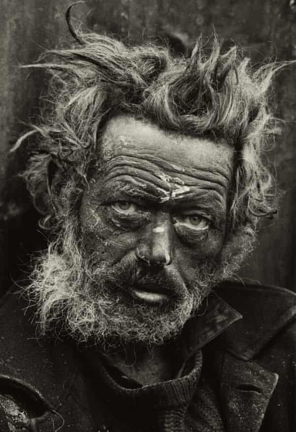 Homeless Irishman, Spitalfields, London 1970.