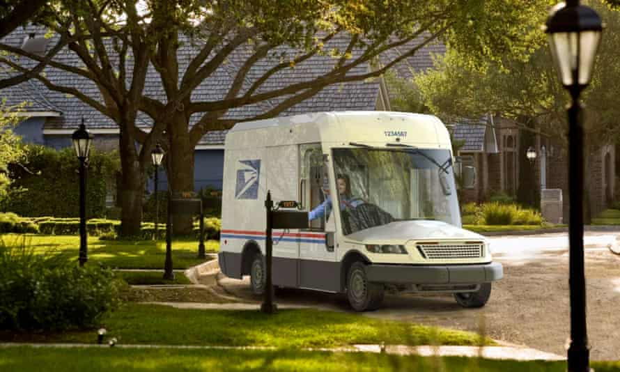 A prototype of the new mail truck Oshkosh will build for the US Postal Service. Sleek, modern and a bit like Justin Timberlake's face, apparently.