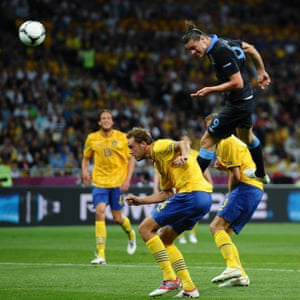 Andy Carroll's memorable header against Sweden at Euro 2012 was his last competitive England goal.