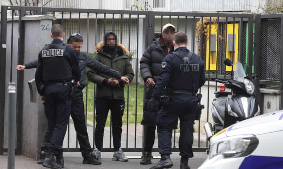 Police in Seine-Saint-Denis, Paris, stop residents during lockdown on 2 April