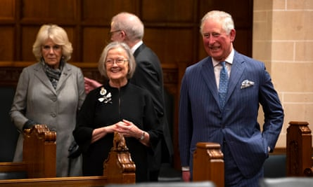 Lady Hale shows Prince Charles around the supreme court.