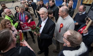 Jeremy Corbyn on the campaign trail in Oxford