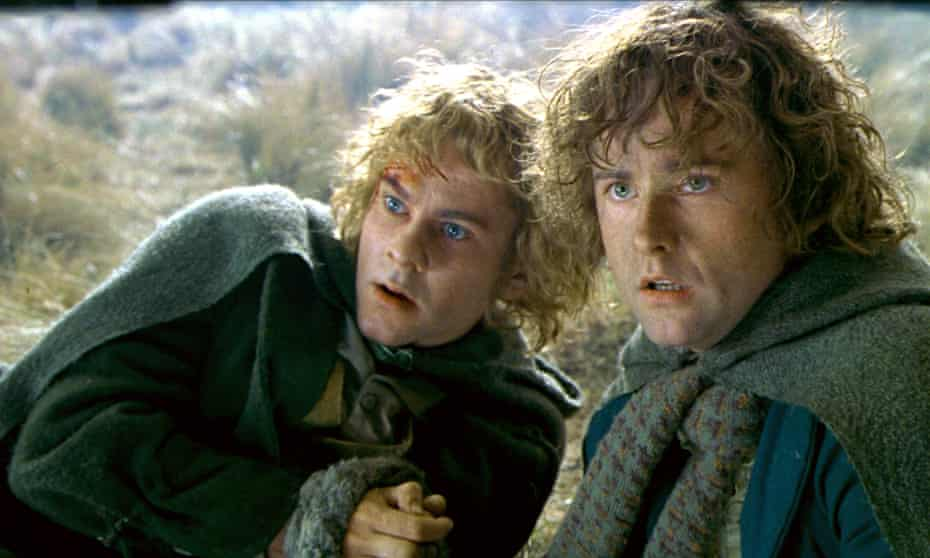 Dominic Monaghan and Billy Boyd in The Lord of the Rings: The Two Towers
