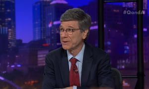 Economist Jeffrey Sachs has urged Australia to 'make a plan, make a timeline, tell the world how you're going to decarbonise.'