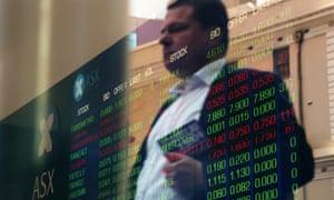 Stock boards at the Australian Securities Exchange