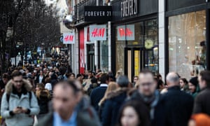 Shoppers on Oxford Street in London