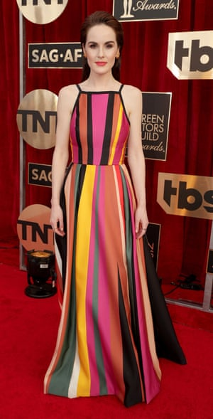 Michelle Dockery at the Screen Actors Guild awards