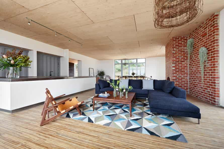 The Kinglake house was built with low toxin and recycled or recyclable materials.