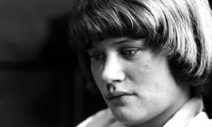 Andrea Dunbar, photographed at home on the Buttershaw estate, Bradford in the early 1980s while writing her play Rita, Sue and Bob Too.