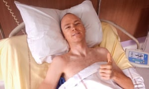A picture of Chris Froome recovering in his St Etienne hospital bed.