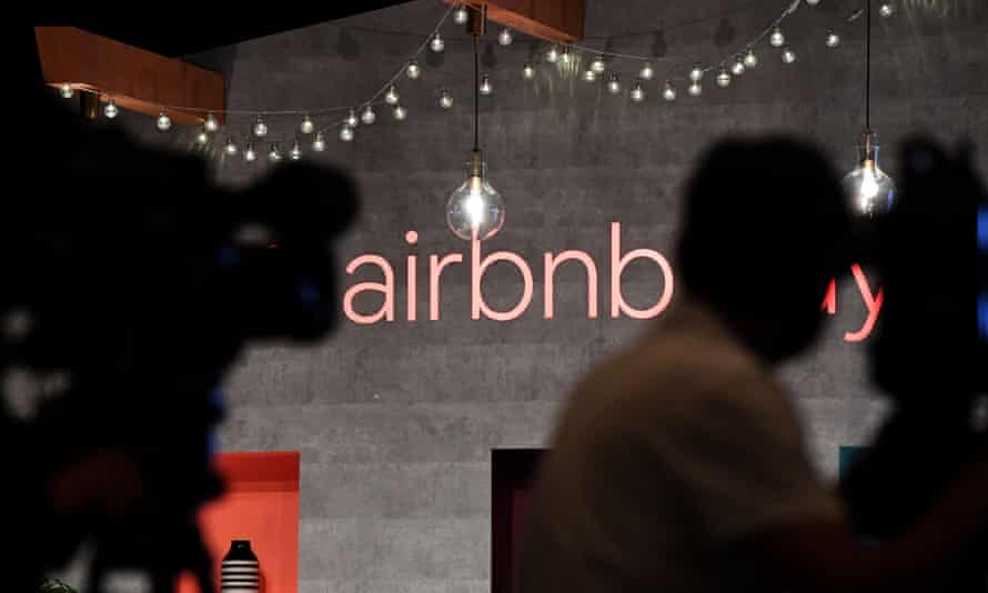 Airbnb logo on wall