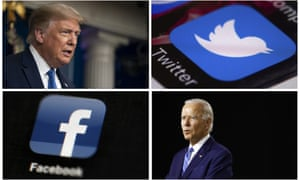 Donald Trump has published a series of ads attacking Joe Biden on social media.