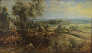 Peter Paul Rubens A View of Het Steen in the Early Morning.