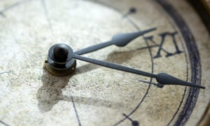 concept of the scanning of the time through a clock with its hands