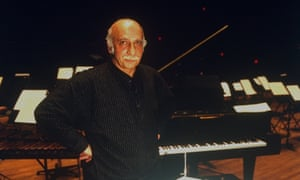 Giya Kancheli at Alice Tully Hall, at the Lincoln Center, New York, in 1995.