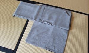A kimono being folded.