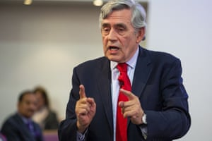 Gordon Brown speaks at a rally in Glasgow in September.
