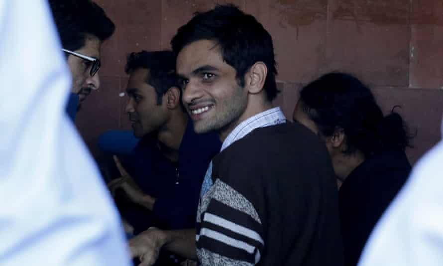 Indian student activist of Jawaharlal Nehru University(JNU) Umar Khalid in New Delhi in 2016