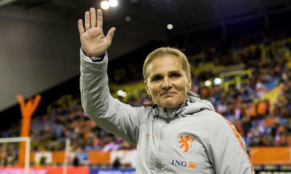 Sarina Wiegman after a Netherlands match in 2019