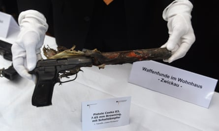 The Ceska pistol allegedly used by the Neo-Nazi gang to commit multiple murders.