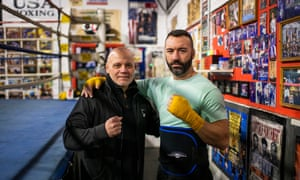 Coach Joe Higgins (left) and the former light-heavyweight Seanie Monaghan, both close acquaintances of Day.