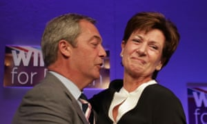 Diane James, seen with Nigel Farage, 'spoke passionately, eloquently and captured a real emotion at Ukip's national conference'.
