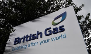 British Gas sign outside its offices in Staines, Surrey
