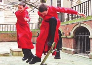 Temple Church choristers take time out.