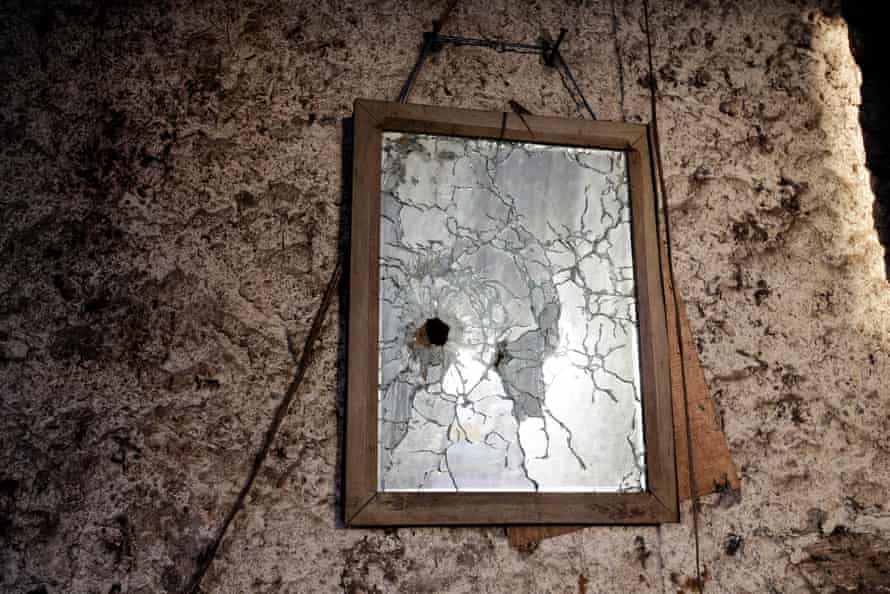 Remnants of recent violence inside a home in Monimbo.