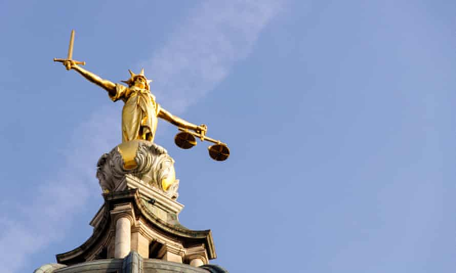 A statue of Justice at the Old Bailey