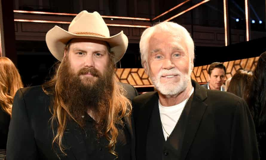 Country man of the moment Chris Stapleton, left, and Kenny Rogers at the CMT Artists of the Year in Nashville, Tennessee.