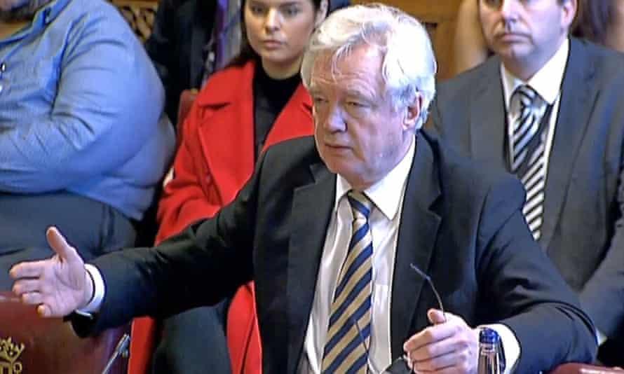 David Davis, the Brexit secretary