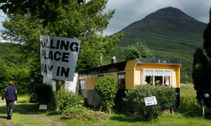A polling station on the Isle of Mull