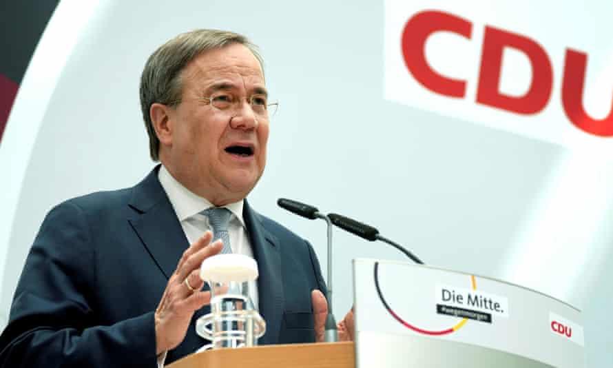 Armin Laschet, chair of the German Christian Democratic Union, CDU