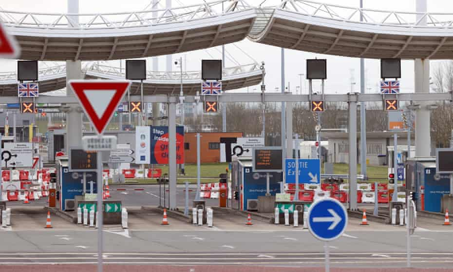 The Channel tunnel border gate at Calais, France