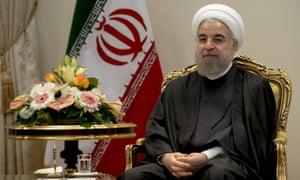 Hassan Rouhani in Tehran, Iran