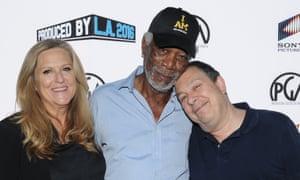 Musings … Morgan Freeman with Lori McCreary and panel moderator Mark Gordon.