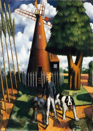 Gilbert Cannan and His Mill, by Mark Gertler, 1916, from the Ashmolean Museum