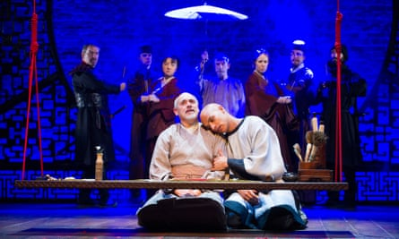 Graham Turner and Jake Fairbrother, centre, in the RSC's 2012 production The Orphan of Zhao.